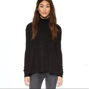 Free People Super Soft Turtleneck Sweater Black M